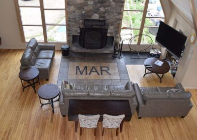 Fireplace in MAR Clubhouse