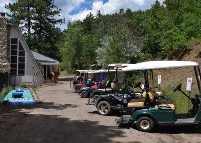 Golf Cart Parking at the Clubhouse